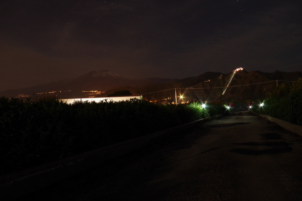 b&b villa valentina taormina garden night view on etna slopes